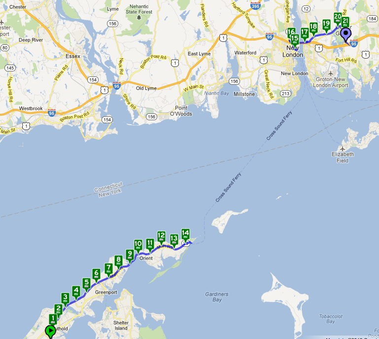 May 21, 2012 Day 28 — Southold, Long Island to Groton, CT